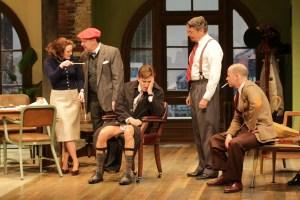 Megan McDermott, Bruce Graham, David Edwards, Carl Wallnau, and George Deihl in Bristol Riverside Theatre's LAUGHTER ON THE 23rd FLOOR (Photo Credit: BRT Staff)