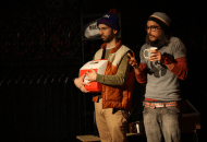 Dave Johnson and J Hernandez in WE CAN ALL AGREE TO PRETEND THIS NEVER HAPPENED (Photo credit: Ilana Caplan)