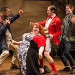 Carlo Campbell, Ryan Walter (as Audrey), Sean Close (as Touchstone), Lee Cortopassi (as Amiens). (Photo by Shawn May)