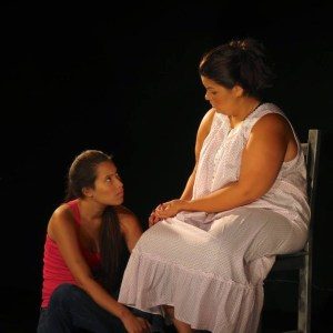 Gabriela Sanchez as Paloma and Erlina Ortiz as Genesis in MORIR SONYANDO.