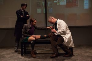 Sam Henderson, Gina Martino, and Joshua Browns in CLOSER at Luna Theater. Photo by Kate Raines, plate3photography.com.