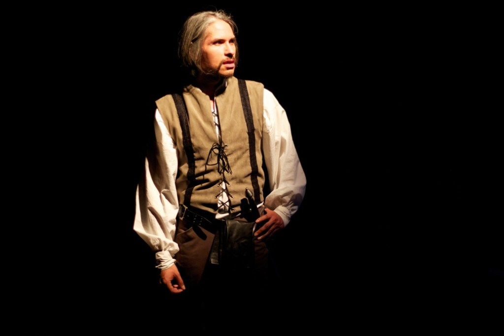 J Hernandez as Iago in The Philadelphia Shakespeare Theatre's Othello, 2013 (Photo credit: Chris Miller)