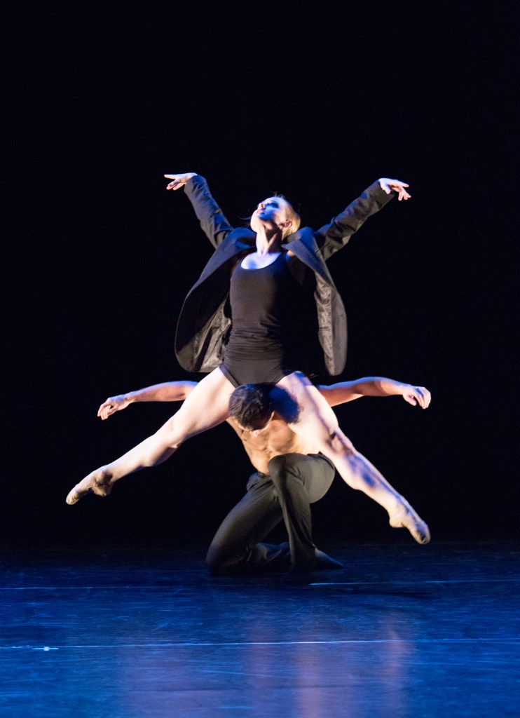 From Amy Seiwert's It's Not A Cry; Dancers: Chloe Felesina and Richard Villaverde. Photo by: Alexander Iziliaev