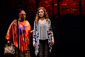 Tamara Anderson as Oda Mae Brown with Anna Giordano as Molly in GHOST. Photo by Maura McConnell.