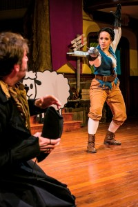 Dan Hodge and Rachel Camp face off in the PAC's THE FAIR MAID OF THE WEST (Photo credit: Ashley LaBonde, Wide Eyed Studios)