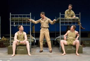 Jon Mulhearn, James Michael Lambert, Jordan Geiger, and Joseph Michael O'Brien in BILOXI BLUES at People's Light (Photo credit: Mark Garvin)