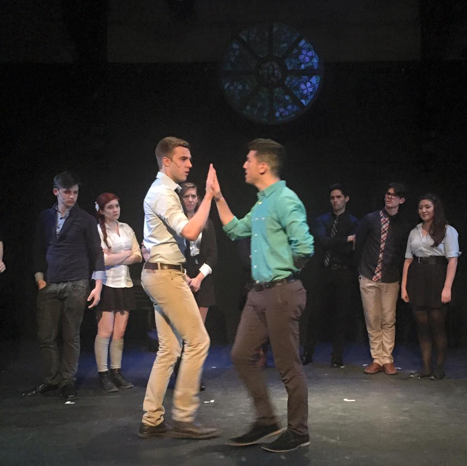 Jared Rosenberg as Peter dancing with Cody Lee Miller as Jason. Photo by Fernando Gonzales