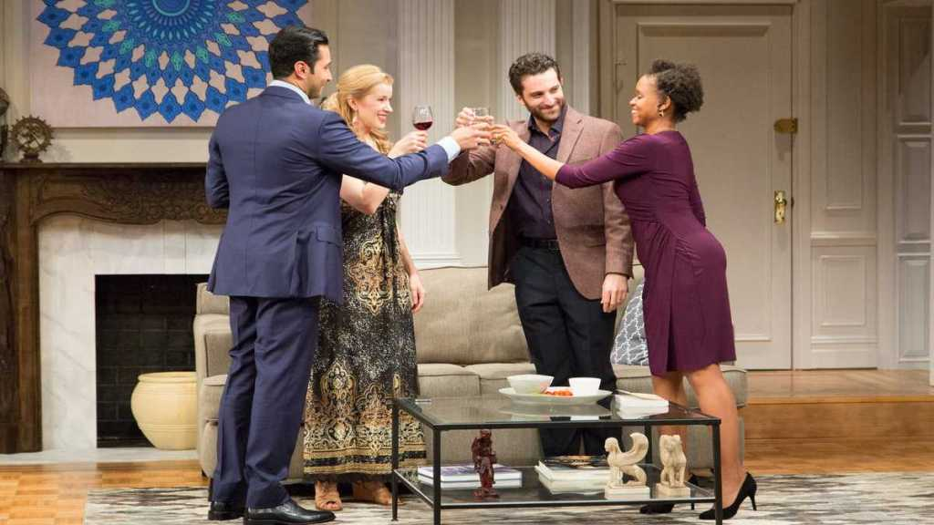 Pej Vahdat, Monette Magrath, Ben Graney, and Aimé Donna Kelly in 'Disgraced' at Philadelphia Theatre Company. Photo by Mark Garvin