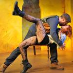 """Kiss me, Kate"": Aaron Fitzpatrick and Jenna Kuerzi in THE TAMING OF THE SHREW."