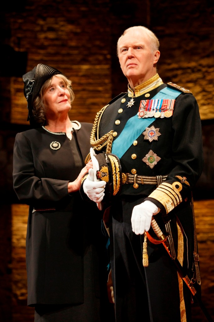 Margot Leicester and Tim Pigott-Smith in The Music Box's production of KING CHARLES III (Photo credit: Joan Marcus)