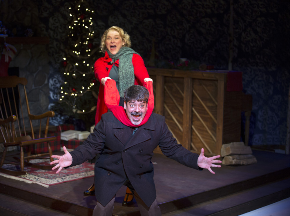 Sonny Leo and April Woodall star in BEHIND THE MUSIC: HOLIDAY TUNES, now on stage at Act II Playhouse in Ambler through Dec. 27. Photo by Bill D'Agostino.
