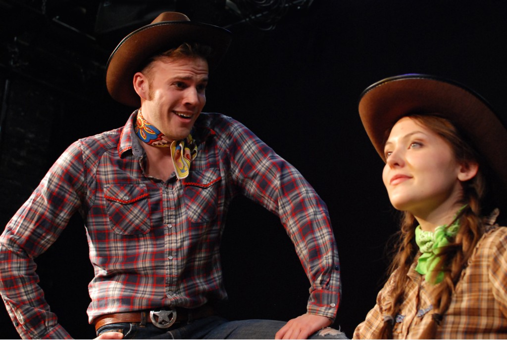 Michael E. Manley (left) and Jenna Pinchbeck star in RODEO. Photo by John Donges.