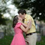 Jake Blouch and Claire Inie-Richards in THE TWO GENTLEMEN OF VERONA at Clark Park. Photo credit: Kyle Cassidy.