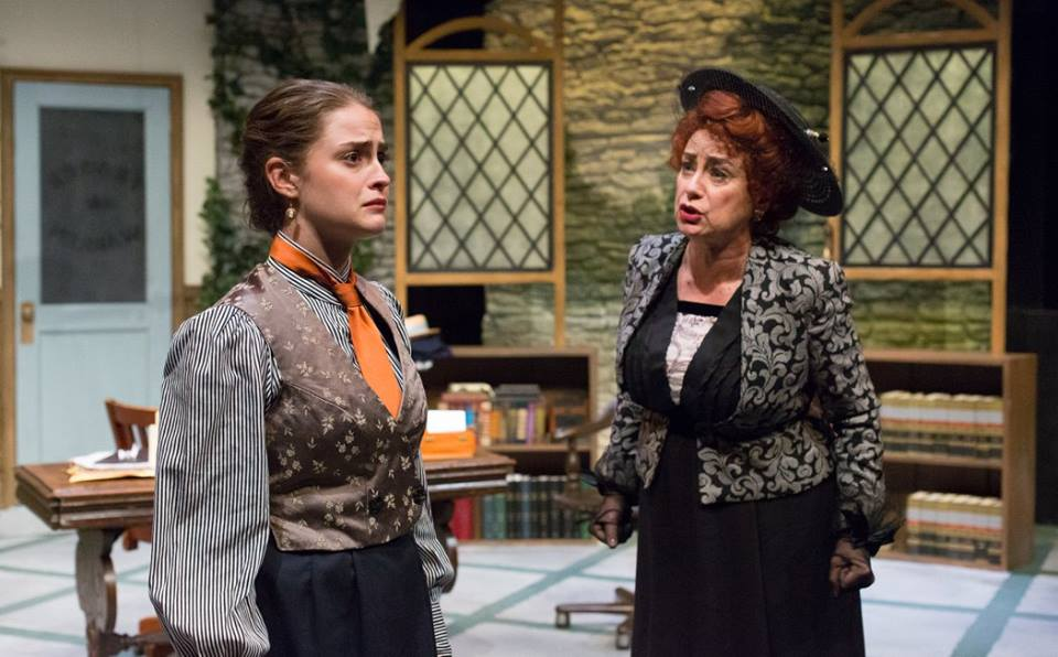 Claire Inie-Richards and Mary Martello in MRS. WARREN's PROFESSION. Photo by Mark Garvin.
