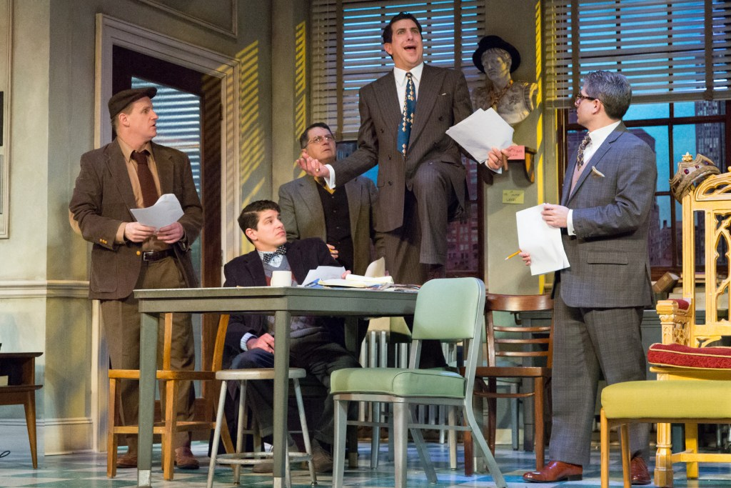Anthony Lawton, Davy Raphaely, Tony Freeman, Frank Ferrante and Jesse Bernstein Neil Simon's Laughter on the 23rd Floor at Walnut Street Theatre. Photo by Mark Garvin.
