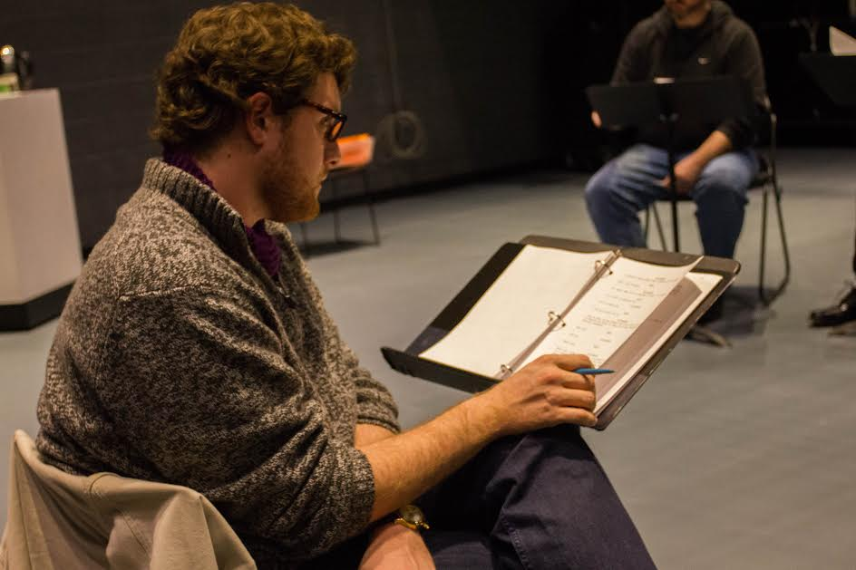 Patrick Ross with a script by James Ijames at PlayPenn, 2015. PlayPenn. Photo by John Fleck,