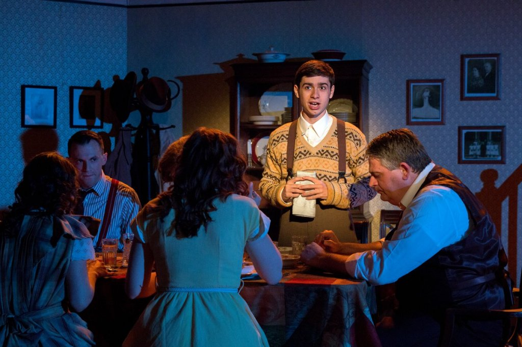 DJ Gleason and Company in BRIGHTON BEACH MEMOIRS. Photo by Bill D'Agostino.