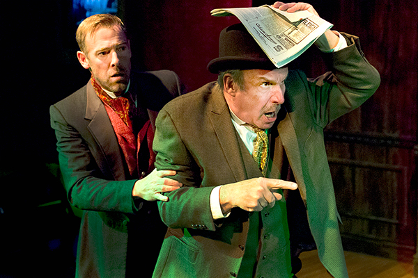 Ian Merrill Peakes and G Van Horn in BASKERVILLE.