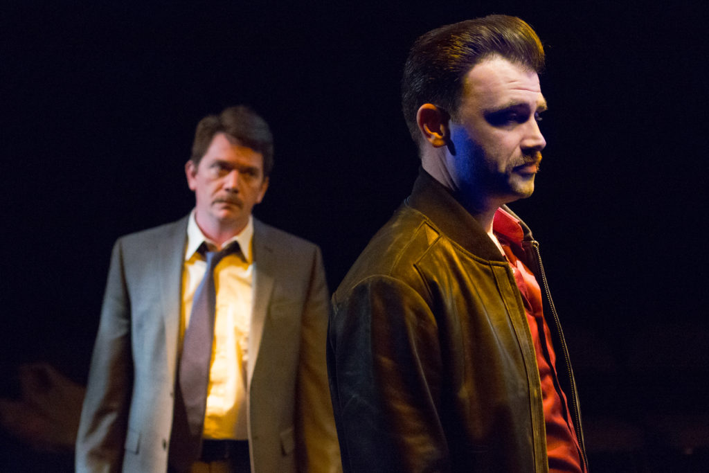 Marc D. Donovan and Keith J. Conallen in A STEADY RAIN in Walnut Street Theatre's Independence Studio on 3. Photo by Mark Garvin