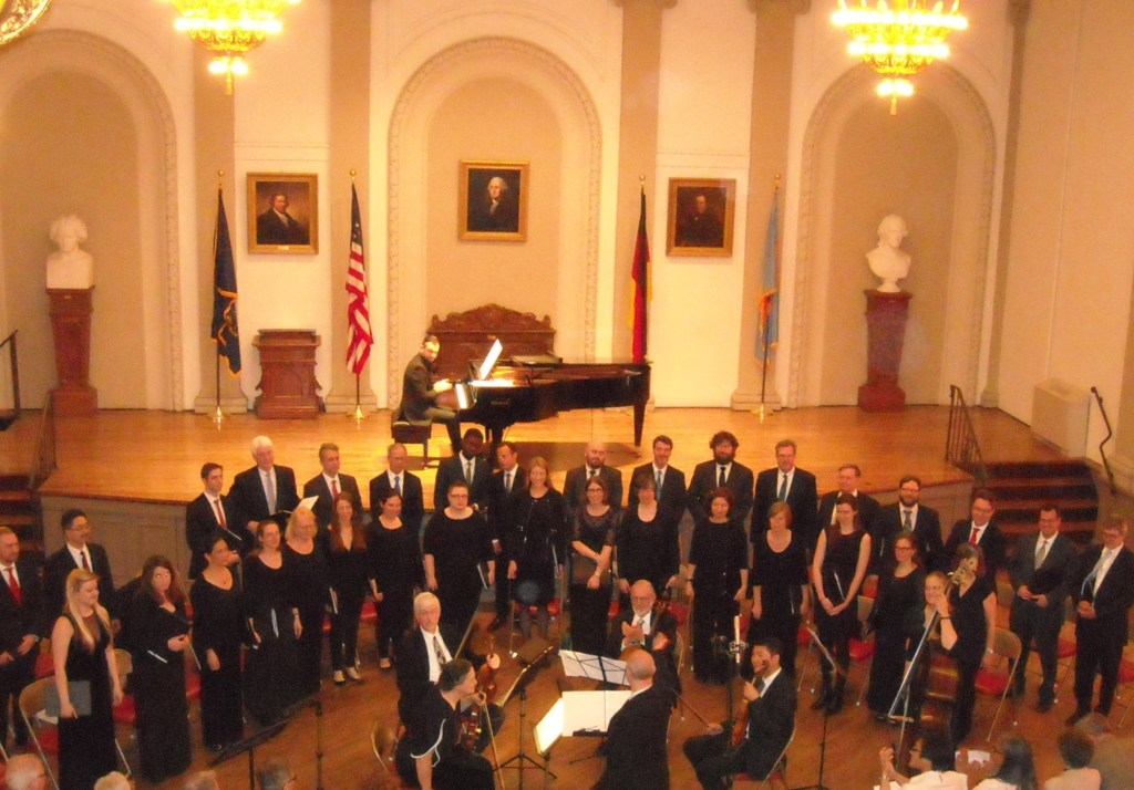 Choral arts, Wister Quartet and Mark Livshitz at the German Society of Pennsylvania