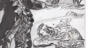 Sketch by Chuck Schultz.
