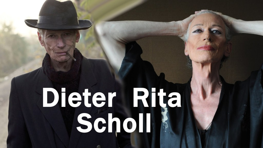 Dieter Rita Scholl as a man and as a woman. Photo by Elke Guenzler