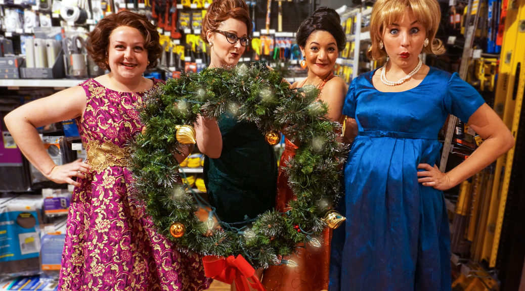 The lovely ditzies at their hardware store. Photo courtesy of Walnut Street Theatre.