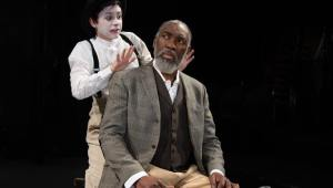 5. DJ Gleason as the Fool and Robert Jason Jackson as King Lear. Photo by Linda Johnson.