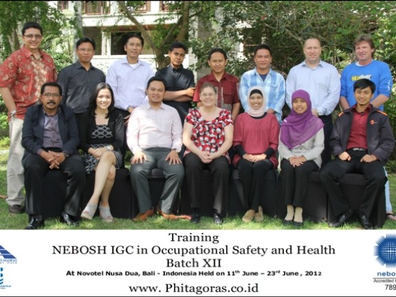 training NEBOSH IGC Batch X at bali 11 - 23 July 2011