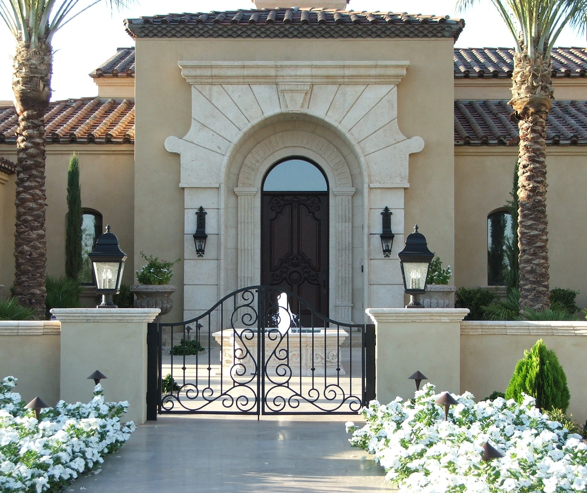 Luxury Home Entrance Phoenix Arizona Waterfront Homes Tempe