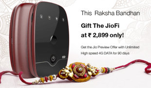 Jio Preview Offer for Raksha Bandhan, Buy a JioFi, Get 90 days Free 4G Data & Voice Calling
