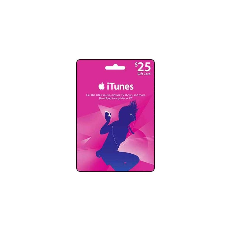 Email Delivery Gift Cards Itunes Gift Card 25 Email Delivery