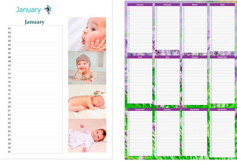 2019 Photo Calendar Templates for Custom Calendar Design