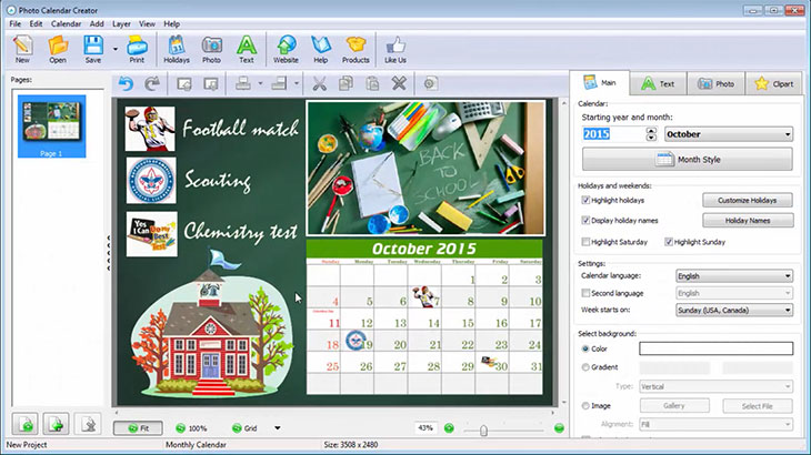 How to Create a School Calendar to Print Student Planner