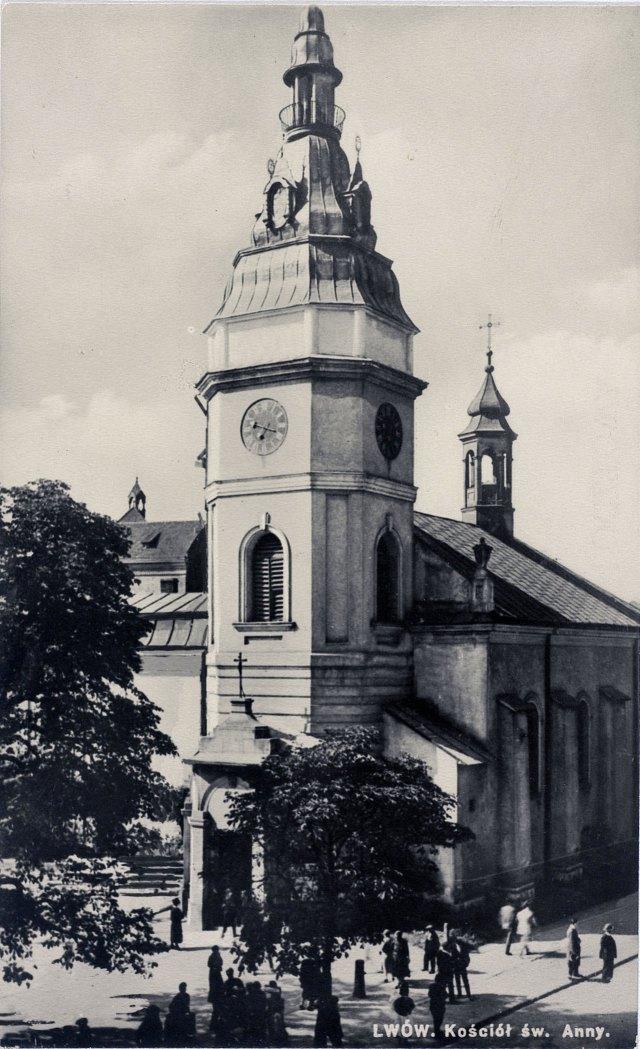 Церква Св. Анни у Львові, фото 1930-1939 років