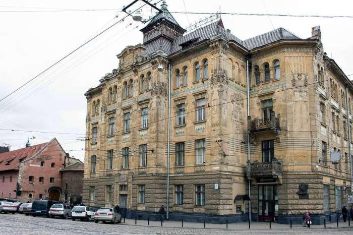 """Будинок товариства та банку """"Дністер"""", президентом якого був Андрей Шептицький"""