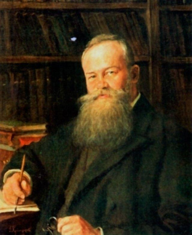 Портрет Михайла Грушевського,виконаний художником Фотієм Красицьким. Львів, 1907 р.