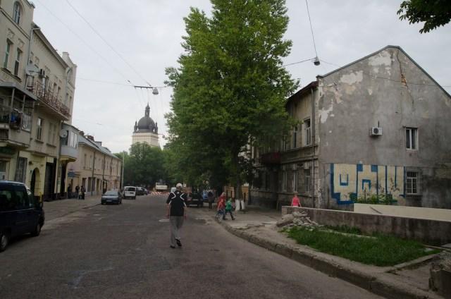Вулиця Б.Хмельницького за колією.