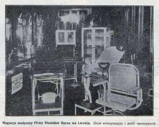 Відділ ветеринарії та операційних меблів крамниці Барана на Академічній. Фото 1924 року