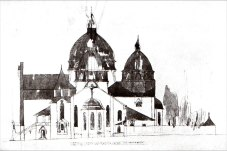 Костел Св. Анни. Конкурсний проект В. Ґжимальського. Вигляд збоку, 1911 р.