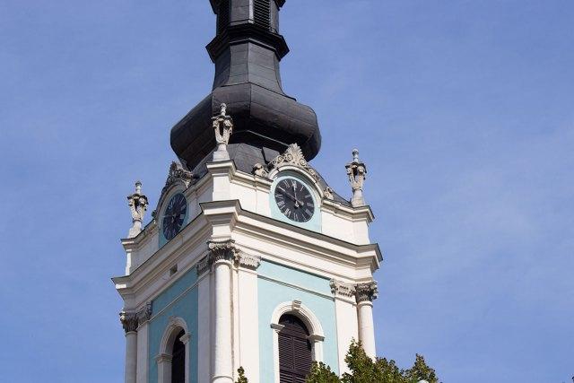 Годинник на дзвіниці церкви Св. Духа