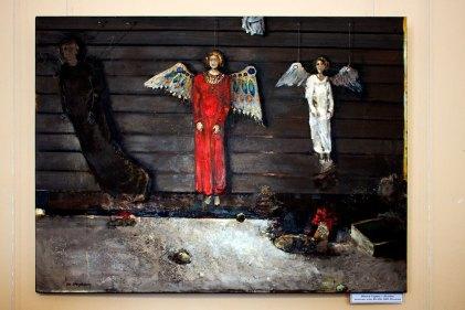 """Збігнев Сприха """"Клуня"""", полотно, олія, 80х100, 2009, Польща"""