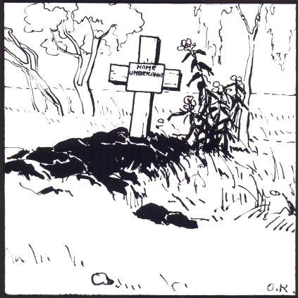 """Олена Кульчицька """"Ім`я невідоме"""", близько 1915-1916 років, туш, перо, 22Х15"""