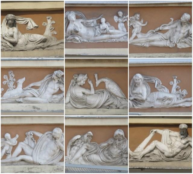 Сюжети з грецької міфології на стінах кам'яниці Піллера