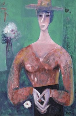 М. Квіт «Дівчина з квіткою». Фото з сайту www.askart.com