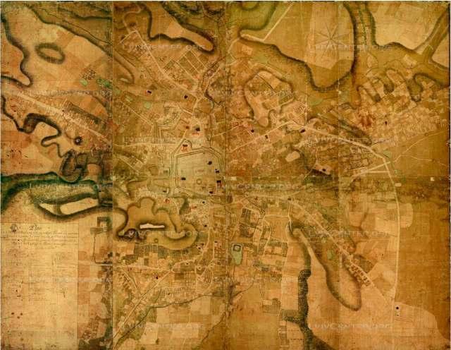 План Львова, 1766 р. Жан Ігнатій дю Дефі