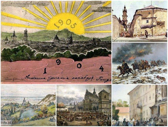 Львів початку ХХ століття на малюнках Тадеуша Рибковського