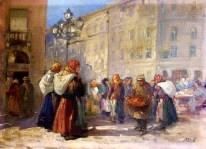 Ерно Ерб. Торг на вулиці Краківській у Львові