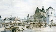 Тадеуш Рибковський. Ярмарок перед Пасхою, 1902 рік