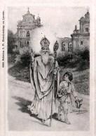 Тадеуш Рибковський. Святий Миколай з хлопчиком у Львові, листівка 1906 року.